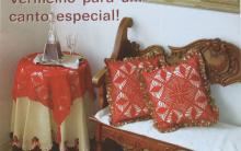 Xale Para Mesa e Almofada Em Crochê – Material e Como Fazer