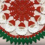 Toalha Natal Redonda Em Crochê – Material e Como Fazer