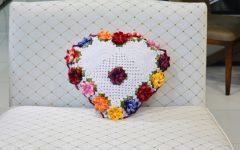 Almofada Coração Dunas Crochê – Material e Como Fazer
