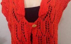 Colete Vermelho Em Tricô e Crochê – Material e Receita