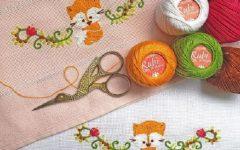 Fraldinha Baby Raposinha Bordado – Material e Receita
