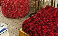 Puff de Pneu Matizado Vermelho Crochê – Material e Receita