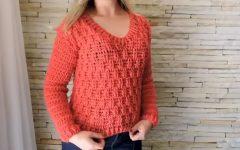 Suéter Vermelho Em Crochê – Material e Vídeo