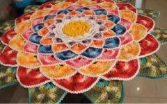 Tapete Redondo Mandala de Crochê – Material e Vídeo