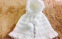 Capinha de Bebê RN Com Capuz Em Crochê – Material e Vídeo