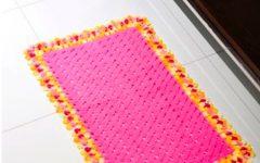 Tapete Ondas Rosas de Crochê – Material e Receita