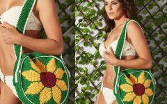 Bolsa Girassol Em Crochê – Material e Receita