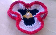 Flor Amor Perfeito Simples Crochê – Material e Vídeo