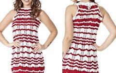 Vestido Chevron Vermelho e Branco – Material e Receita