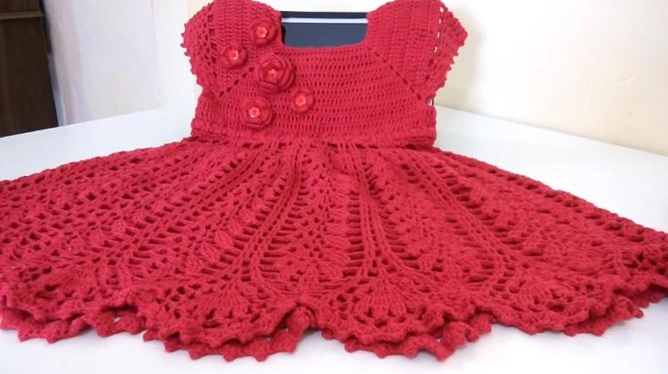 Muito Vestido Infantil Crochê – Material e Vídeo | Bigtudo Artesanato JU87