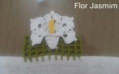 Barrado Flor Jasmim Em Crochê – Material e Vídeo