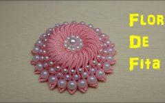 Flor de Fita Com Perolas – Material e Vídeo