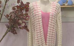 Kimono RetilíneaEm Crochê – Material, Vídeo e Receita