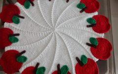 Toalha de Mesa Maçã Crochê – Material e Receita