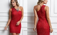 Vestido Vermelho Um Ombro Só Crochê – Material e Receita