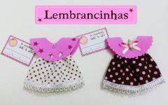 Lembrancinha Vestidinho Para Chá de Bebê EVA – Material e Vídeo