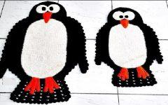 Tapete Pinguim Em Crochê– Material e Vídeo