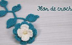 Flor e Folhas de Crochê Para Aplicação – Material e Vídeo