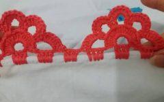 Bico Carreira Única Em Crochê – Material e Vídeo