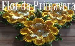Flor Primavera Em Crochê – Material e Vídeo