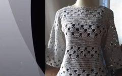 Blusa Cinza e Prata Em Crochê – Material e Vídeo