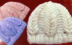 Gorro Ponto Espiga de Trigo Em Relevo Crochê – Material e Receita