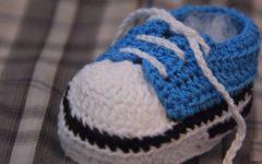Tênis Cano Baixo AzulEm Crochê – Material e Vídeo