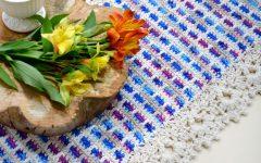 Trilho de Mesa Colore Em Crochê – Material e Receita