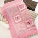 Manta de Bebê com Ursinha em Patchwork – Passo a Passo